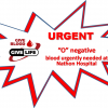 Urgent O negative blood needed