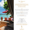 Weekly Beachfront Business Lunch at Zazen Resort