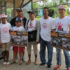 Group against oil exploration give out leaflets in Maenam