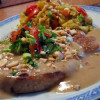 Pork chop with peanut sauce
