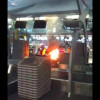 Luggage bursts into flames on the Bangkok Airways luggage conveyer belt
