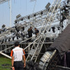 One person has been killed and at least 10 injured when a concert stage collapsed before its scheduled performance in Udon Thani province