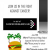 ISS Burger sale at Fisherman's village tonight for cancer research