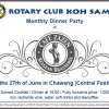 Rotary monthly dinner at the Café Zazen