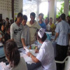 Workers from Myanmar, Cambodia and Laos have health checks in Samui Hospital