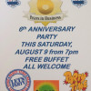 Premier Bar 6th anniversary party this Saturday August 9th