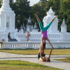 Foreigners upset Thai's by doing 'yoga' at a temple