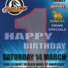Tonight, 14th March is the Black Duck's 1st Birthday Party