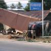 Car crashes into a house in Samui partly destroying it