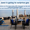 June is going to surprise you at Quote Tapas Bar at Royal Beach