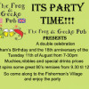 Its party time tonight at the Frog and Gecko Pub in Bophut