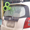 Wind-up drivers beware! Motorist to be fined for this tacky car decor