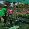 "Chiang Mai village ""cycles"" for fresh veg!"