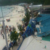 Tourists lucky to escape injury after restaurant roof collapse on Koh Larn