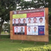 Sign boards showing images of seven bomb suspects erected in Nakhon Si Thammarat