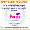 Rotary Samui April Business Lunch