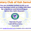 Rotary Club of Koh Samui – Business Lunch Friday 10th March