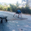 Farang shames Thais – repairing road just a stone's throw from the airport!