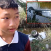 Boy hero, 14, jumps in khlong to save driver – but he's too late