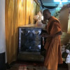 Police probe missing monk's body from refrigerated glass coffin