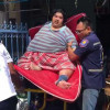 Medics struggle for hours to get obese man to hospital in Rayong