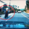 """Negligent"" foreign tourist on big bike slams into Thais"