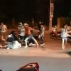 Helpless old woman repeated kicked in the head by Thai gang