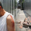 Foreigner in lucky escape as wall falls on him on footpath in Bangkok