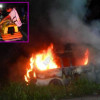 Soldiers and police heroes pull minivan driver from burning wreckage
