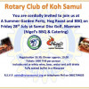 Amazing BBQ offered by Nigel for Rotary Fellowship Dinner on Friday 28th July