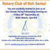 Rotary September 2017 Fellowship Dinner