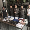 Phuket police arrest two men with drugs, gun and ammunition
