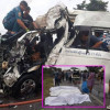 Four foreign tourists dead as van slams in to turning 10 wheel truck