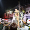 Crane rescues 62-year-old woman from Bangkok fire