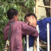 Ouch! Worker impales himself on railings in Phayao