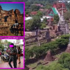 Five Thai men and women charged after clambering on the ruins at Ayutthaya