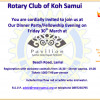 March 2018 Samui Rotary Fellowship Dinner