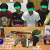 Six arrested in Phuket drugs, illegal firearms bust