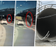 """Motorist's lucky escape as """"UFO"""" lands in front of his car!"""