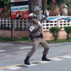 Dancing traffic cop lowering stress levels in Thailand's south