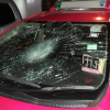 Hot headed Thai woman takes revenge on a taxi with a baseball bat