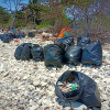 A massive beach clean up on Matsum Island