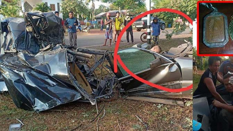When only the best amulet will do! Deputy police chief survives Benz devastation