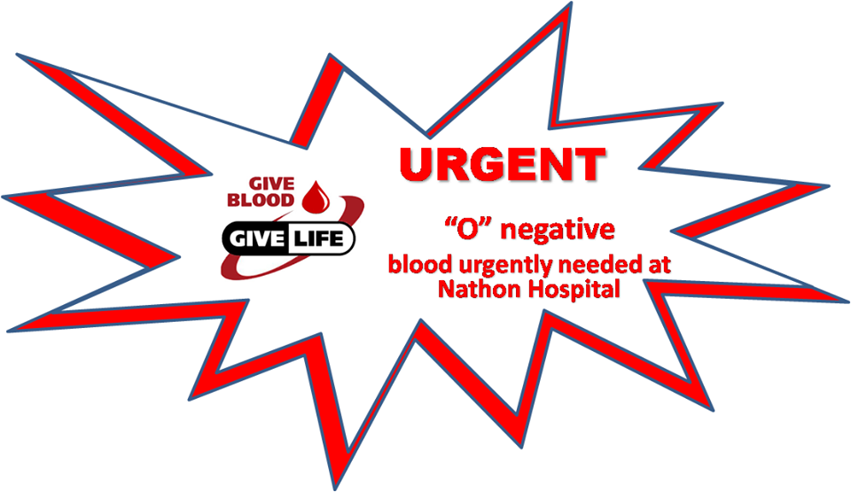 Urgent O negative blood needed | Samui Times