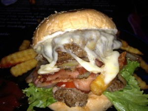 a Samui Rock Cafe burger