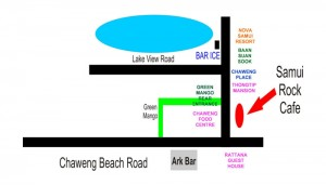 a map to the rock cafe
