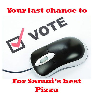 Friday July 2nd at 12 noon – voting closes for the best Pizza and Fish and Chips winners announced | Samui Times