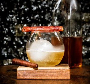 The larder booze with bacon
