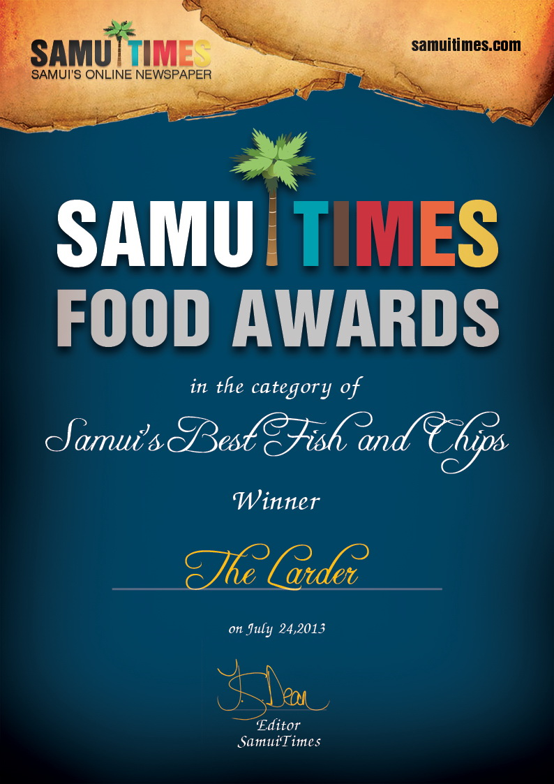 Winner of the Best Fish and Chips competition | Samui Times
