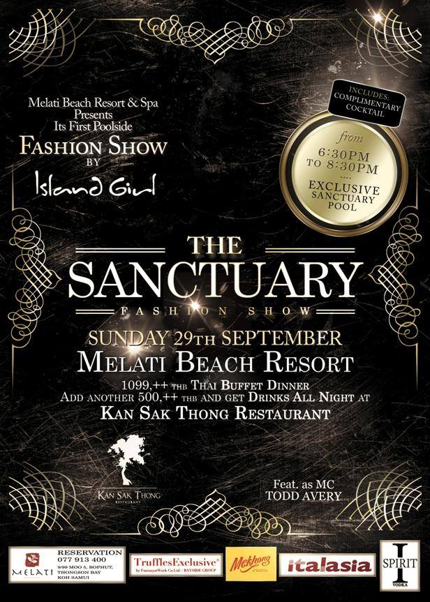 The Sanctuary Fashion Show at the Melati Beach Resort September 29th | Samui Times